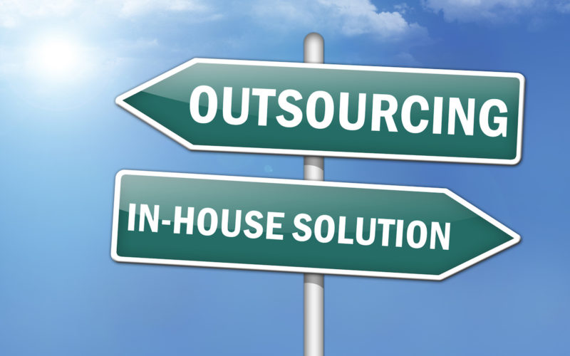 "Way Signs ""Outsourcing – In-House Solutions"""